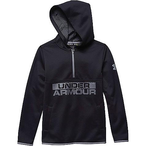 Under Armour Boys' ColdGear Infrared Fleece Hoody Black / Steel