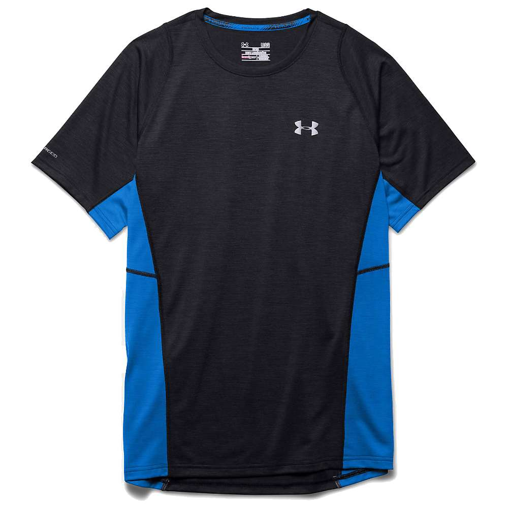 Under Armour Men's Charged Wool Run SS Tee - Small - Black / Blue Jet / Reflective