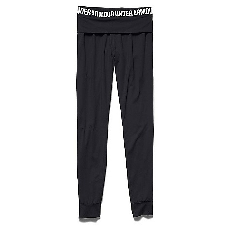 Under Armour Women's Downtown Knit Jogger Pant Black / Metallic Silver