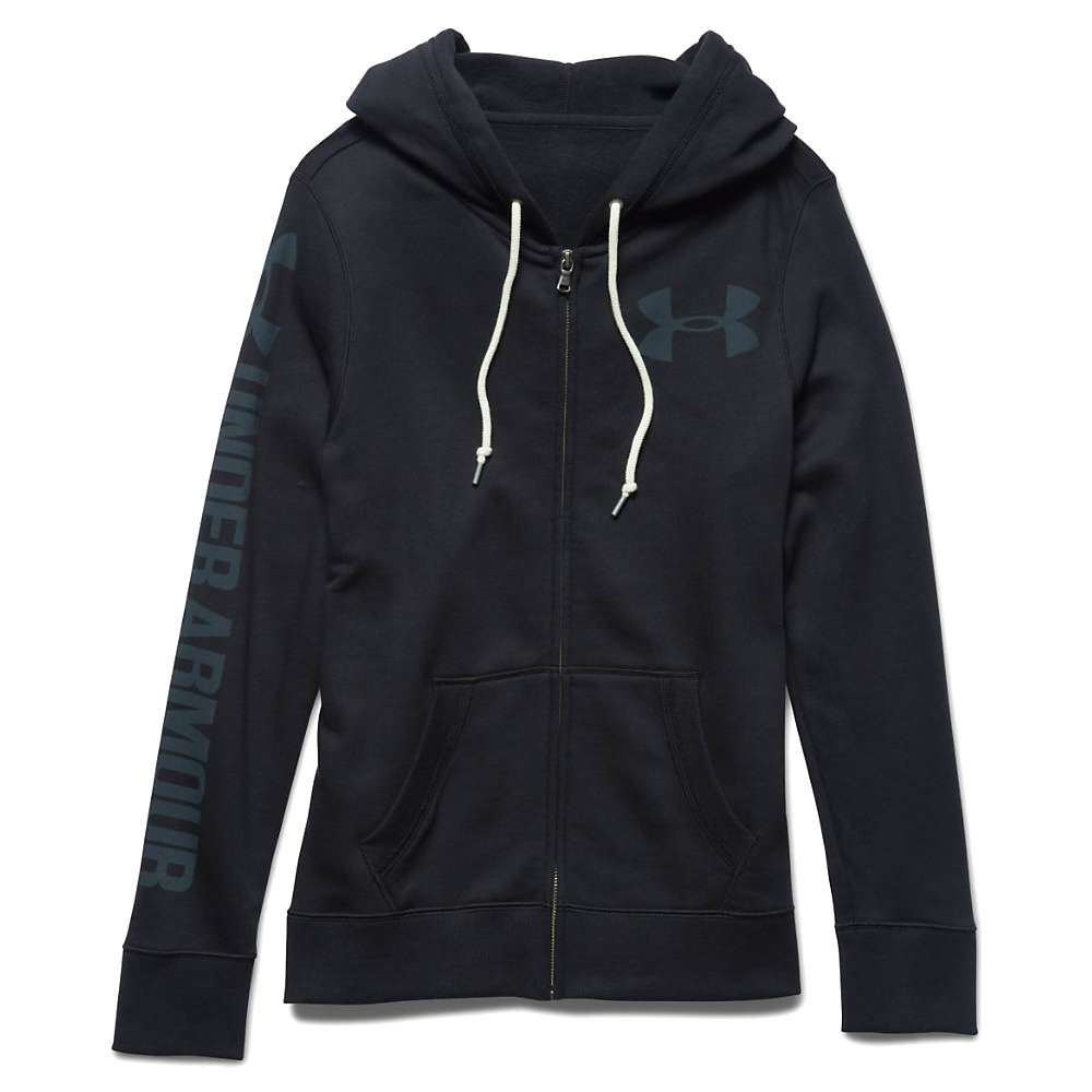 Under Armour Women's Favorite Fleece Full Zip Hoody - Small - Black / Black