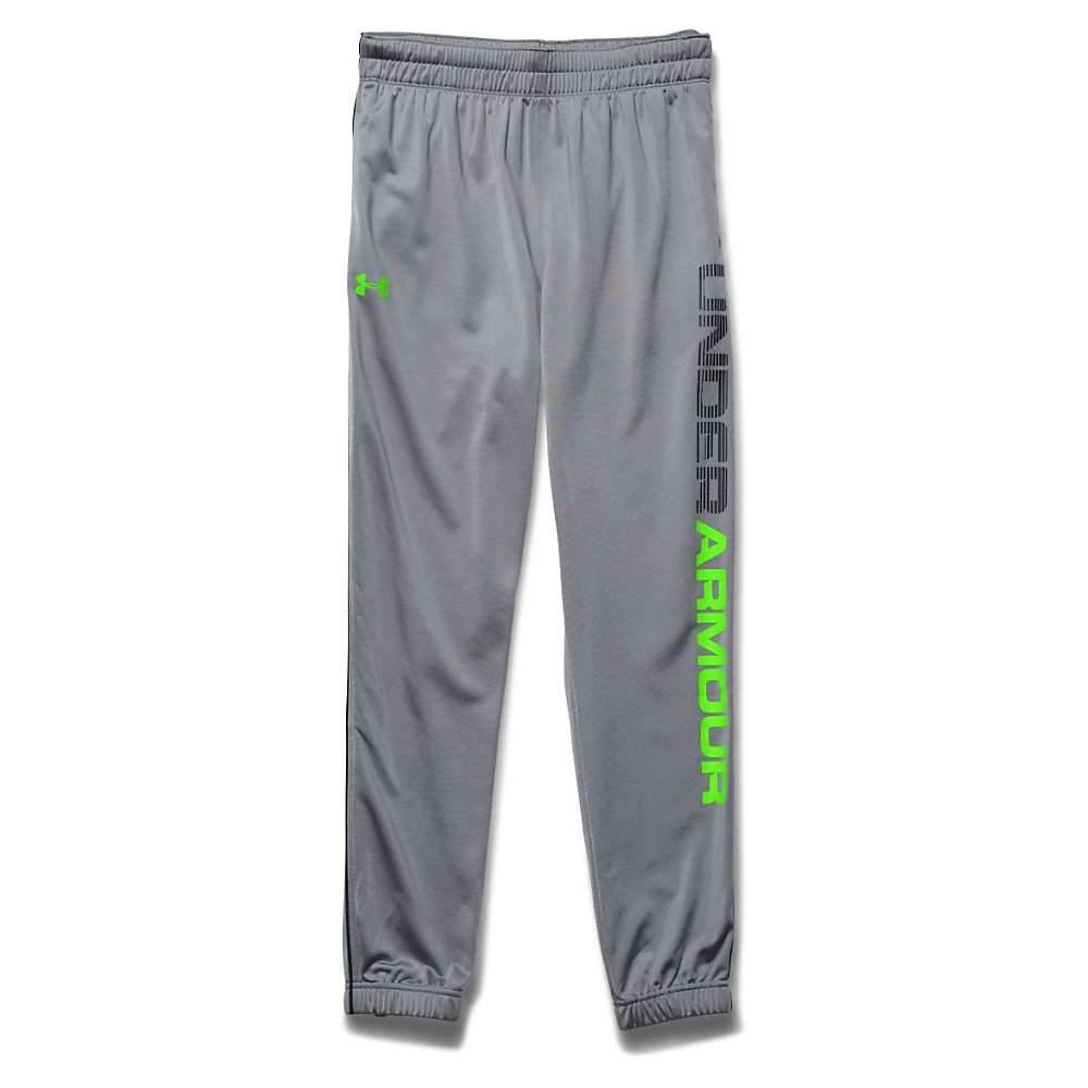 Under Armour Men's Graphic Tapered Tricot Pant - XL - Steel / Black / Hyper Green