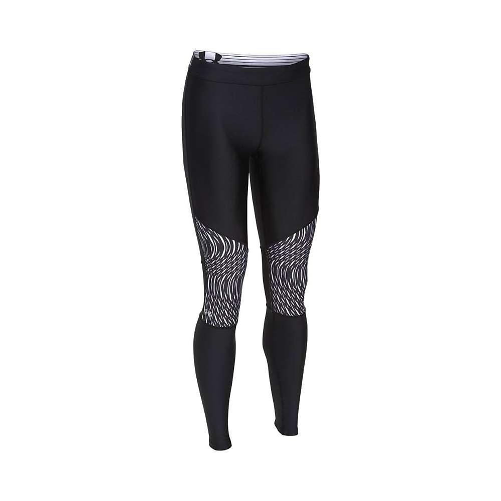 Under Armour Women's HeatGear Armour Print Inset Legging - Medium - Black / Black / Metallic Silver