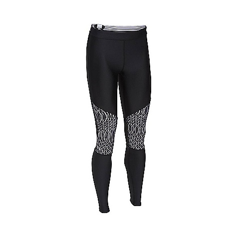 Under Armour Women's HeatGear Armour Print Inset Legging Black / Black / Metallic Silver