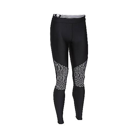Under Armour Women's HeatGear Armour Print Inset Legging Black / Black / Metallic Silver