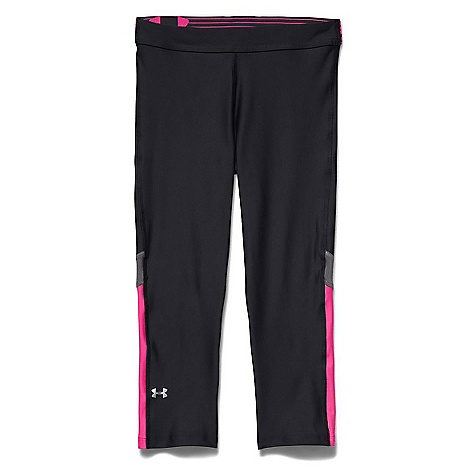 Under Armour Women's HeatGear Armour Capri Black / Graphite / Metallic Silver