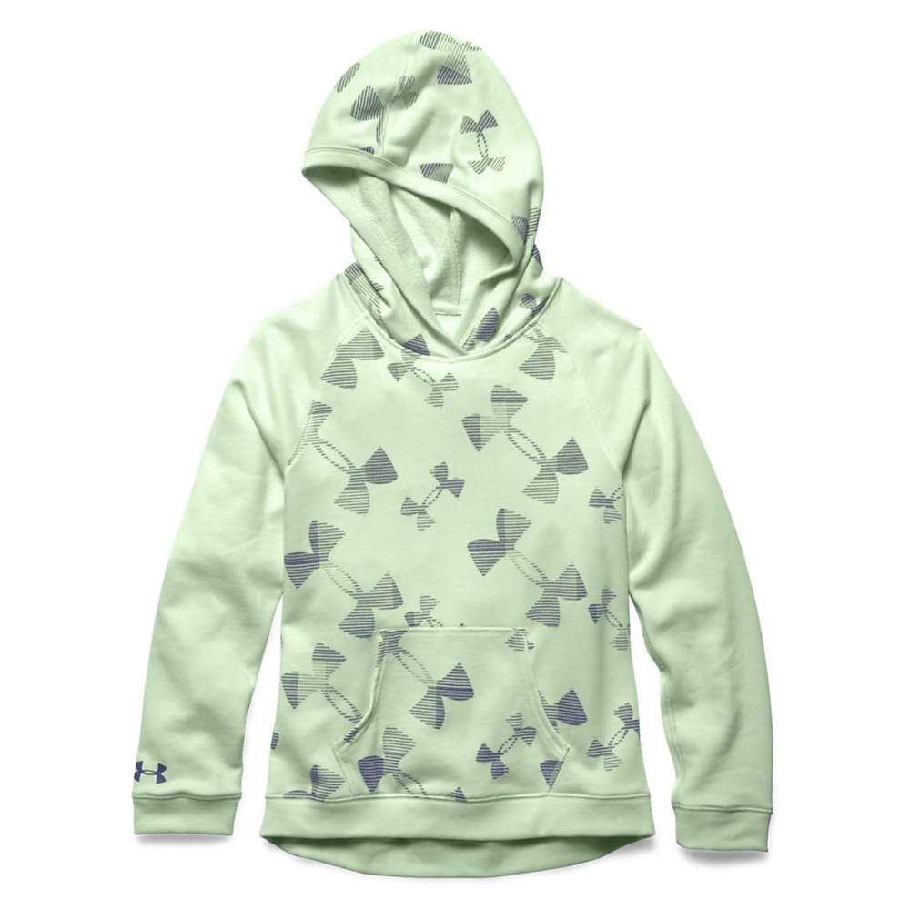 Under Armour Girls' Kaleidelogo Hoody - Large - Minty / Steel / Europa Purple