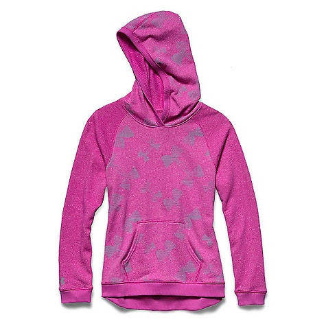 Under Armour Girls' Kaleidelogo Hoody Pink Essence / Steel / Steel