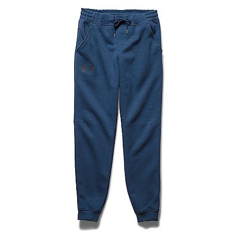 Under Armour Men's Rival Cotton Novelty Jogger Pant Petrol Blue / Petrol Blue / Black