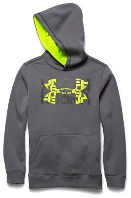 Under Armour Boys' Rival Cotton Logo X2 Hoody