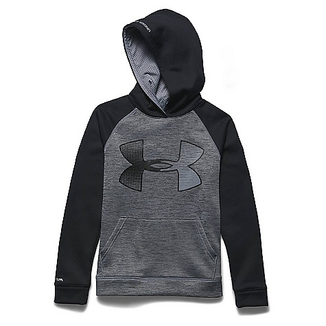 Under Armour Boys' Storm Armour Fleece Jumbo Big Logo Hoody Steel / Black / Black