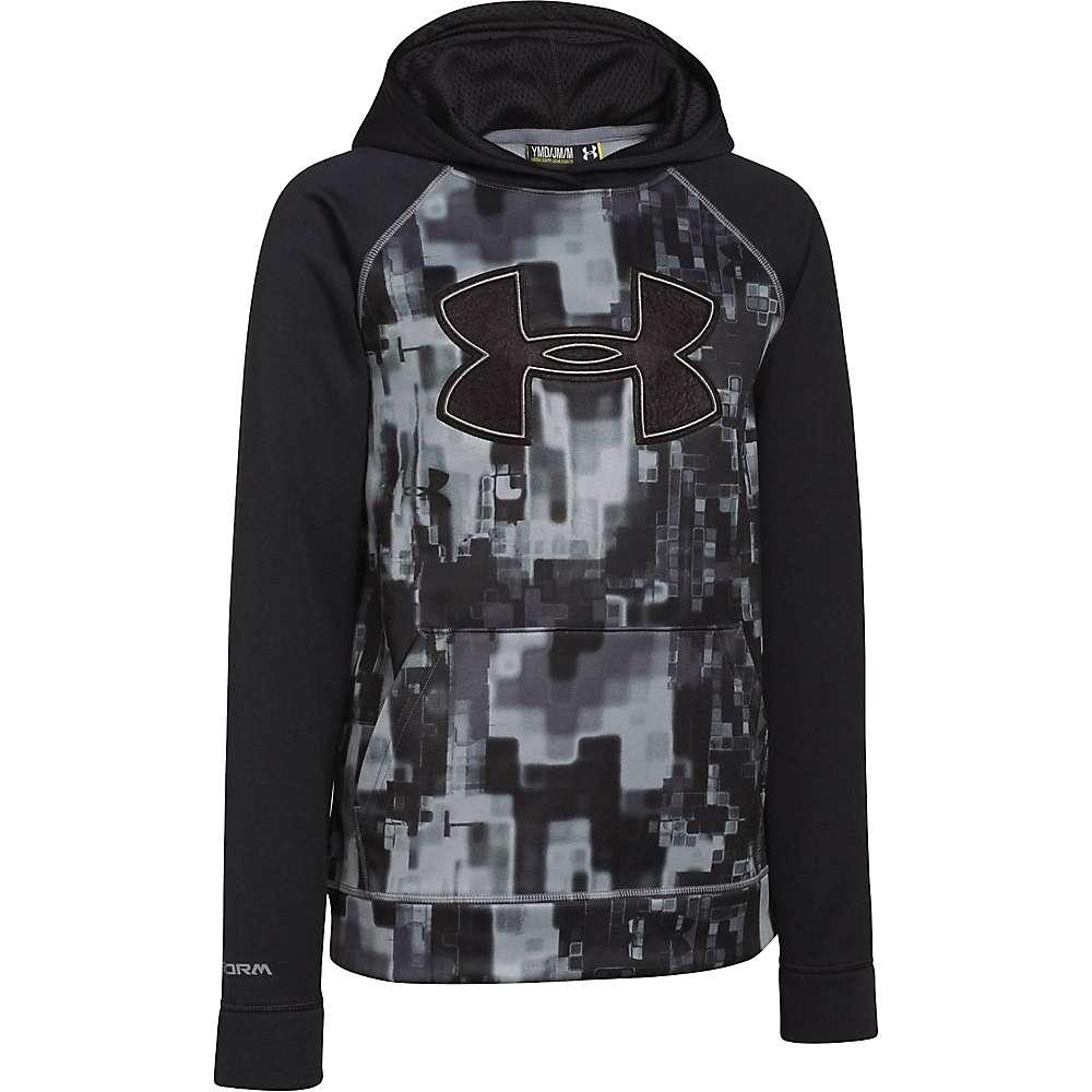 Under Armour Boys' Storm Armour Fleece Printed Big Logo Hoody - Small - Black / Graphite / Black