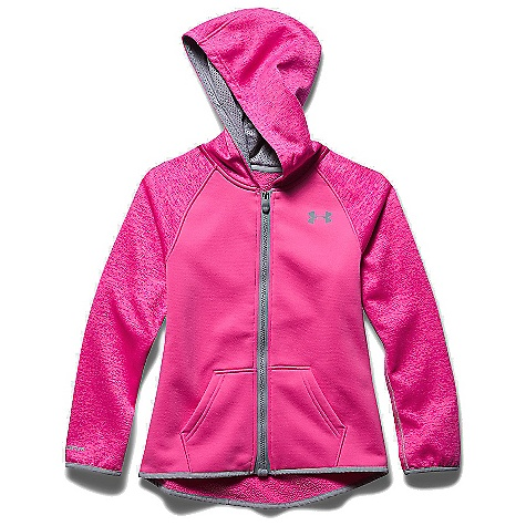 Under Armour Girls' Storm Armour Fleece Full Zip Hoody Rebel Pink / Steel