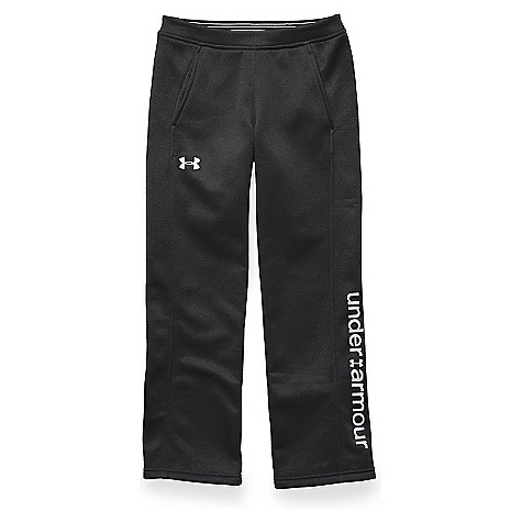 Under Armour Girls' Storm Armour Fleece Pant Black / Black / White