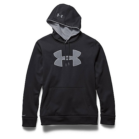 Under Armour Men's Storm Armour Fleece Big Logo Hoody Black / Steel / Steel