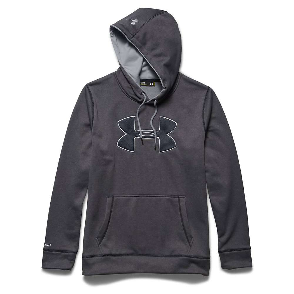 Under Armour Men's Storm Armour Fleece Big Logo Hoody - Small - Carbon Heather / Amalgam Gray / Amalgam Gray