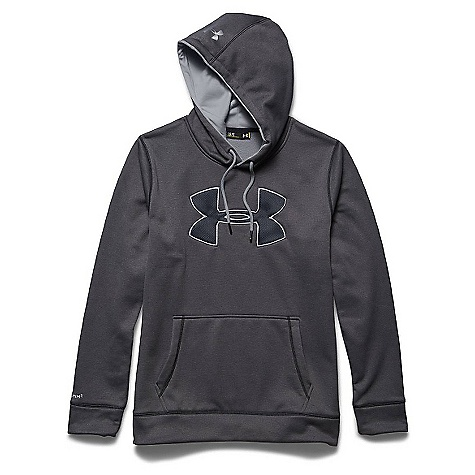 Under Armour Men's Storm Armour Fleece Big Logo Hoody Carbon Heather / Amalgam Gray / Amalgam Gray