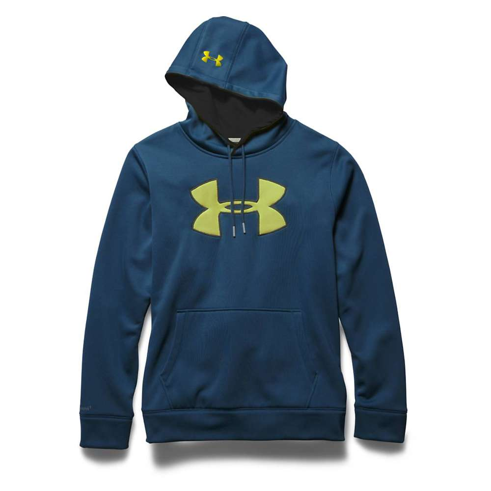 Under Armour Men's Storm Armour Fleece Big Logo Hoody - Small - Petrol Blue / Black / Sunbleached