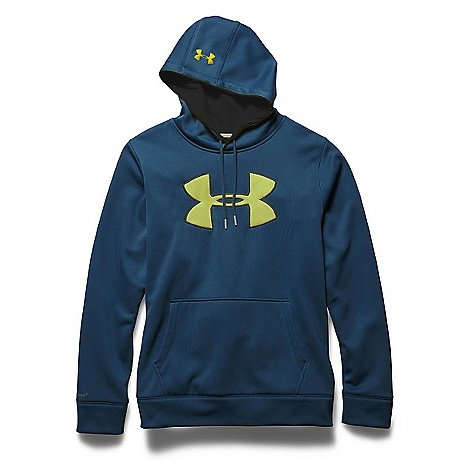 Under Armour Men's Storm Armour Fleece Big Logo Hoody Petrol Blue / Black / Sunbleached