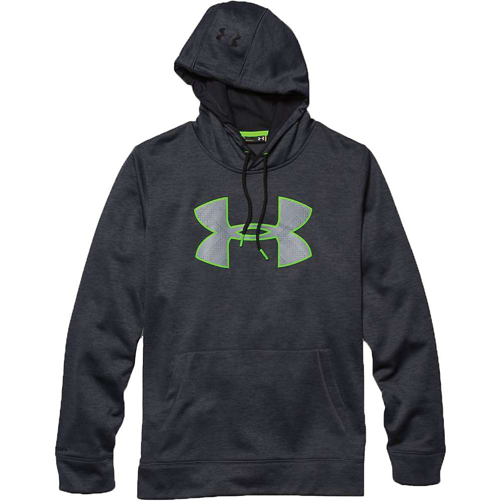 Under Armour Men's Storm Armour Fleece Big Logo Twist Hoody - Small - Stealth Gray / Black / Black