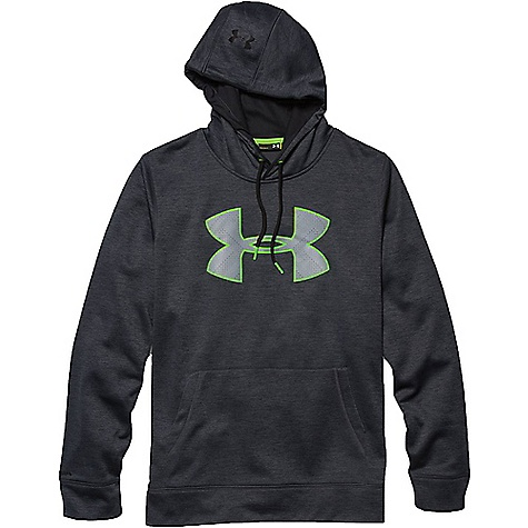 Under Armour Men's Storm Armour Fleece Big Logo Twist Hoody Stealth Gray / Black / Black
