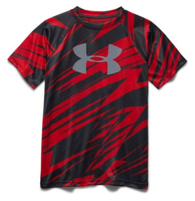 Under Armour Boys' Tech Big Logo Printed SS Tee
