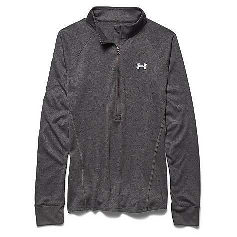 Under Armour Women's Tech 1/2 Zip Top Carbon Heather / Metallic Silver