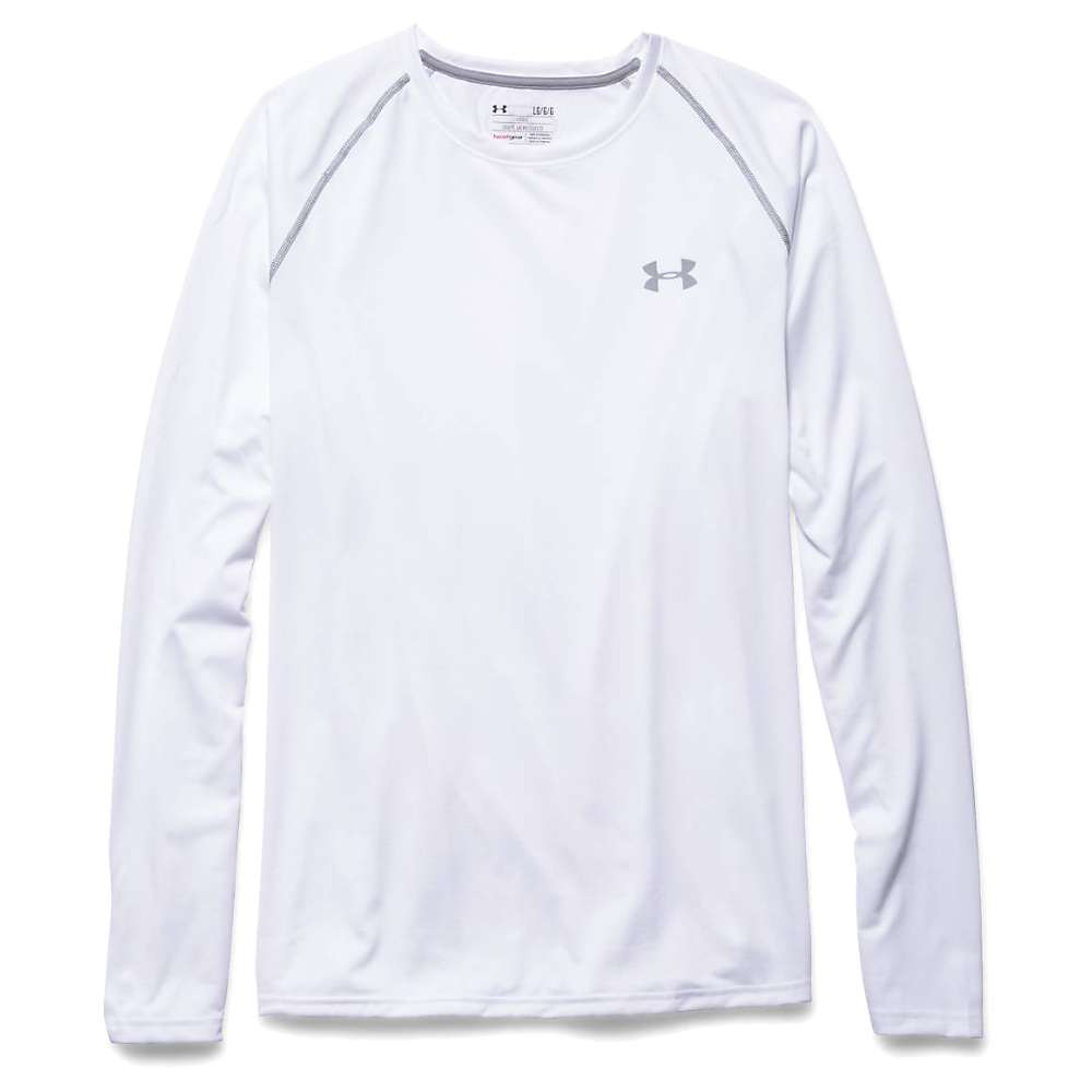 Under Armour Men's UA Tech LS Tee - Small - White / Steel