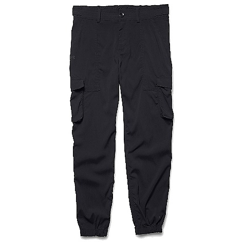 Under Armour Women's Woven Cargo Pant Black / Black / Reflective