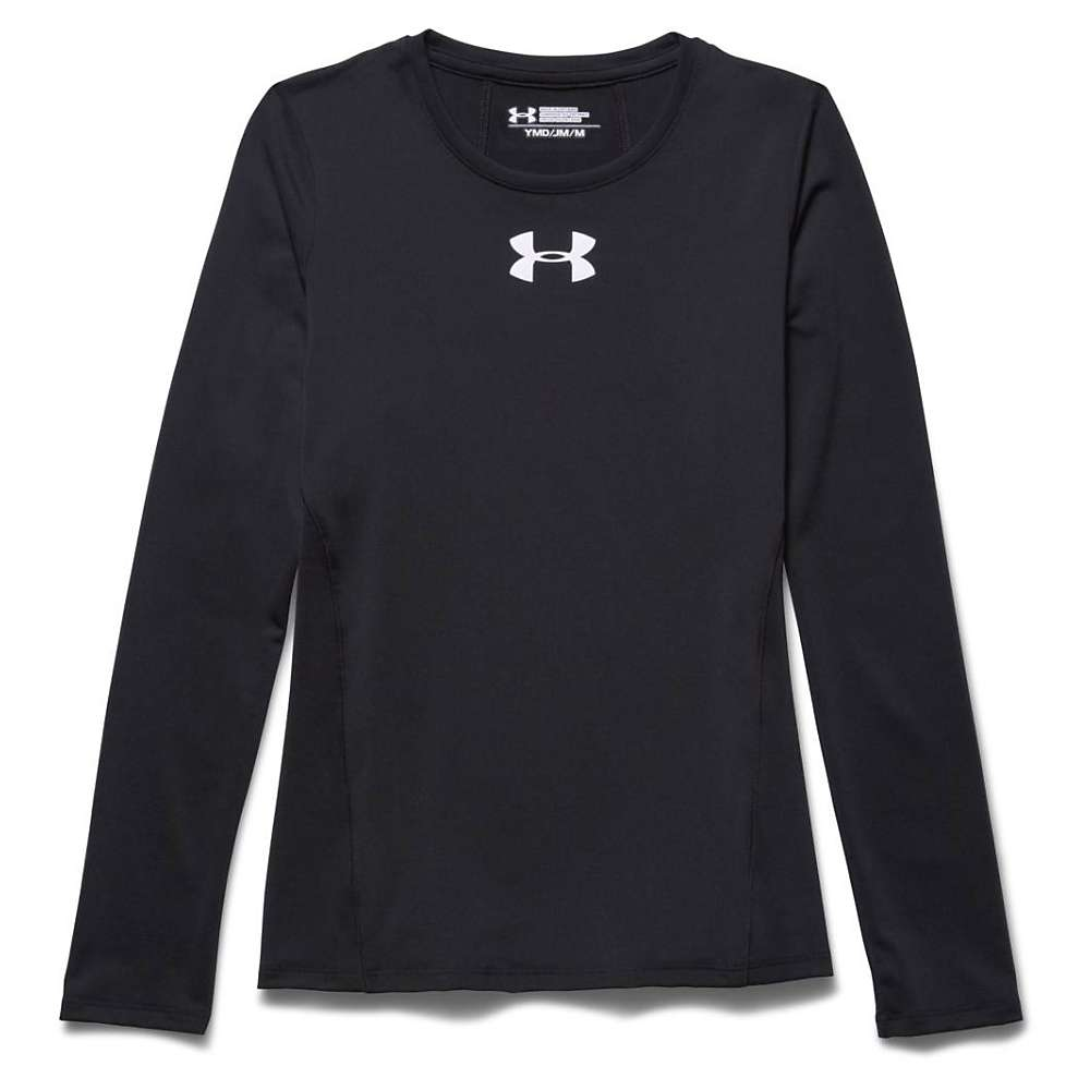 Under Armour Girls' Armour LS Top - XS - Black / White