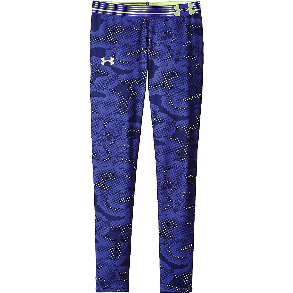 Under Armour Girls' Armour Printed Legging - Small - Constellation Purple / X Ray