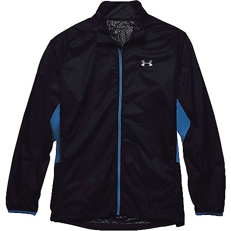Under Armour Men's ColdGear Infrared Storm Launch Packable Jacket Black / Blue Jet / Reflective