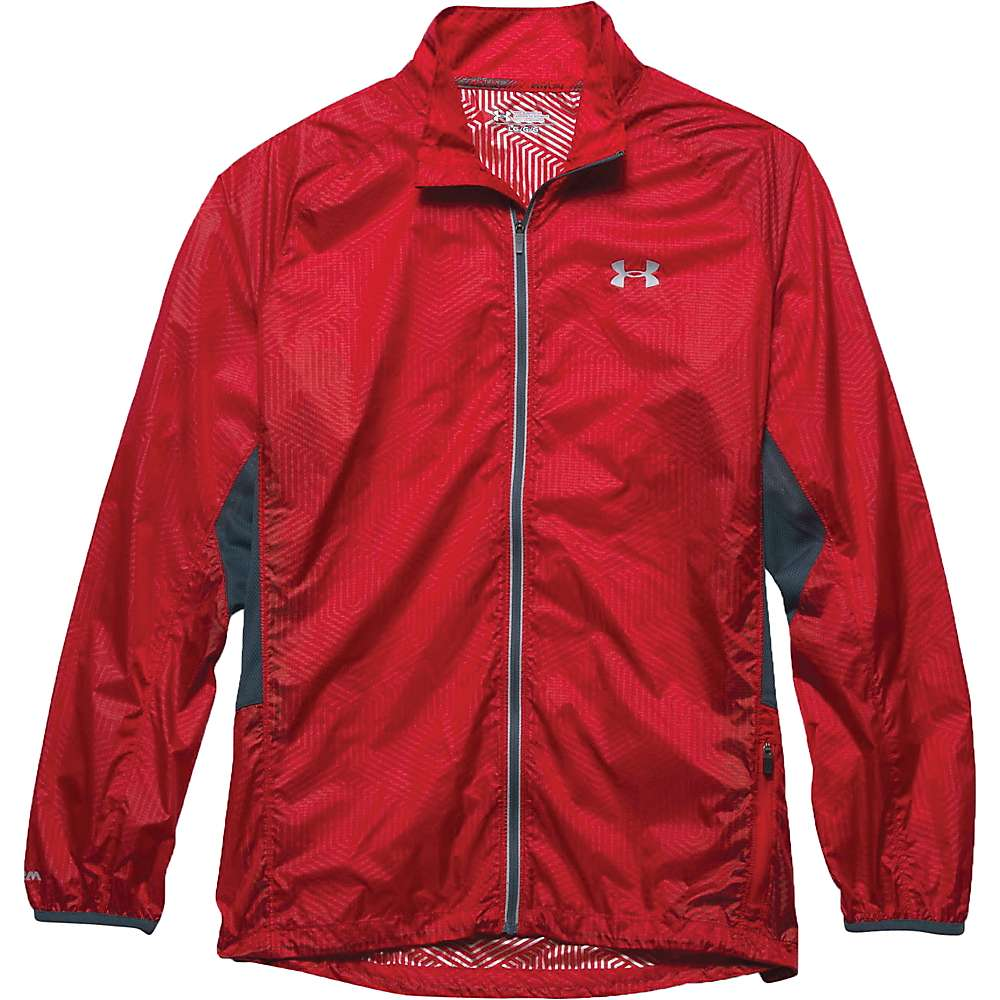 Under Armour Men's ColdGear Infrared Storm Launch Packable Jacket - Small - Red / Wire / Reflective