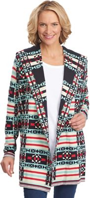 Woolrich Women's Dew Berry Hooded Fair Isle Cardigan
