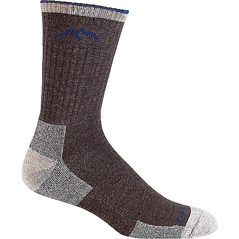 Darn Tough Men's Hiker Micro Crew Cushion Sock Chocolate