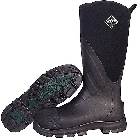 Muck Grit Safety Toe Boot Black / Carbon