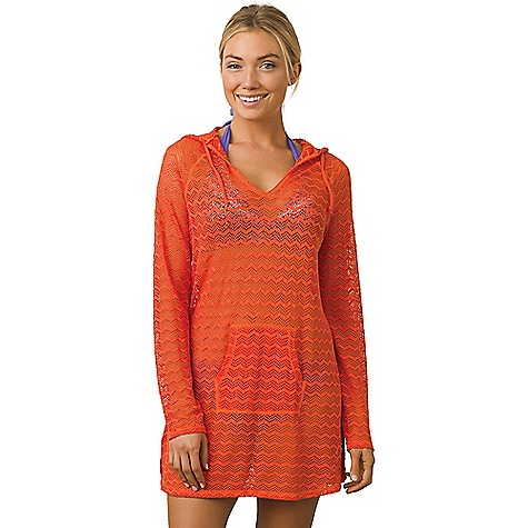 Prana Women's Luiza Tunic Dress Electric Orange