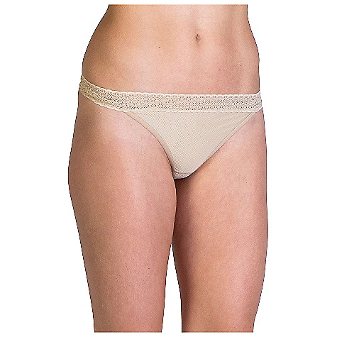 ExOfficio Women's Give-N-Go Lacy Thong Nude