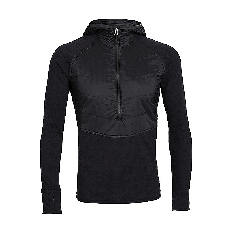 Icebreaker Men's Ellipse LS Half Zip Hood Black / Black / Metal