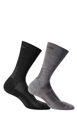 Icebreaker Men's Hike+ Light Crew 2 Pack Sock