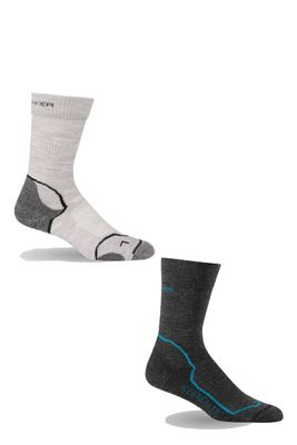 Icebreaker Women's Hike+ Light Crew 2 Pack Sock