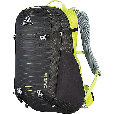 Gregory Men's Salvo 28L Pack Black / Macaw Green