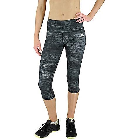 Adidas Women's Performer Mid-Rise 3/4 Tight Black / Print