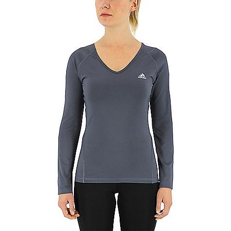 Adidas Women's Techfit LS Top Utility Blue / Matte Silver