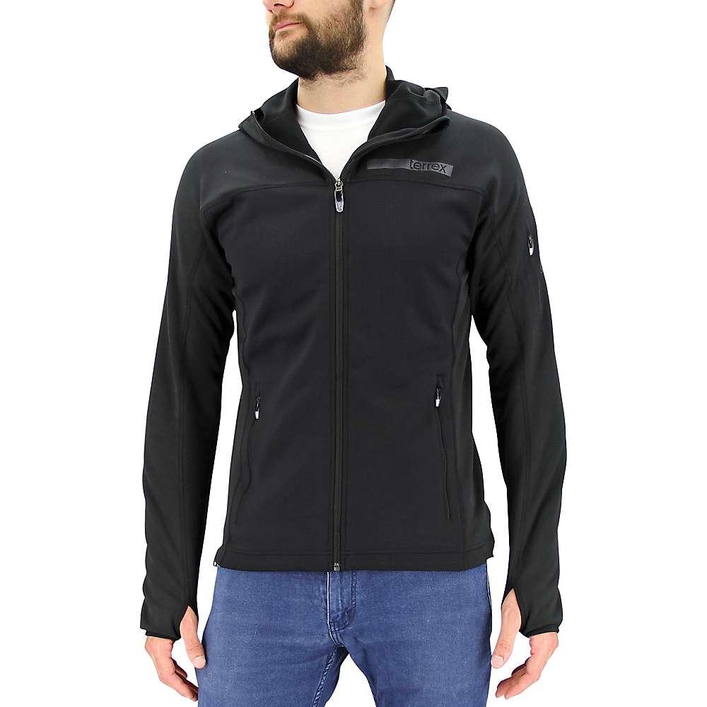Adidas Men's Terrex Stockhorn Fleece Jacket - Small - Black / Shadow Black