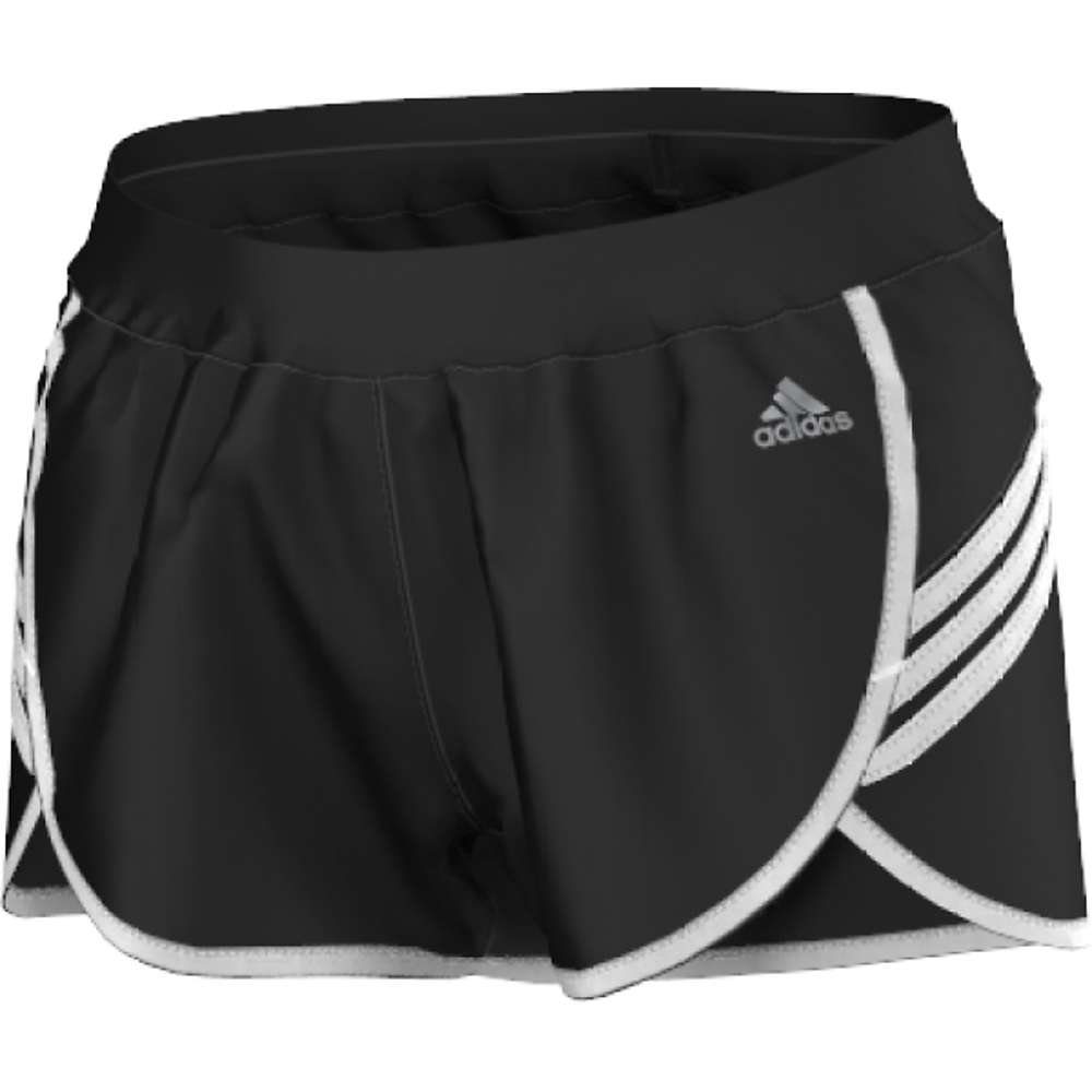 Adidas Women's Ultimate Woven 3-Stripe Short - Large - Black / White