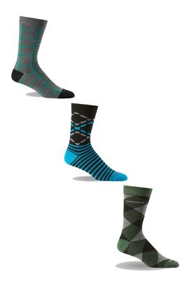 Icebreaker Men's Lifestyle Fine Gauge Ultra Light Crew 3-Pack Sock