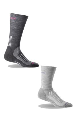 Icebreaker Women's Hike Light Crew 2-Pack Sock