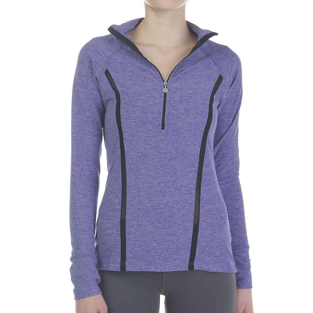 Beyond Yoga Women's Lattice Half Zip Pullover - Small - Faded Denim / Lavender Mist