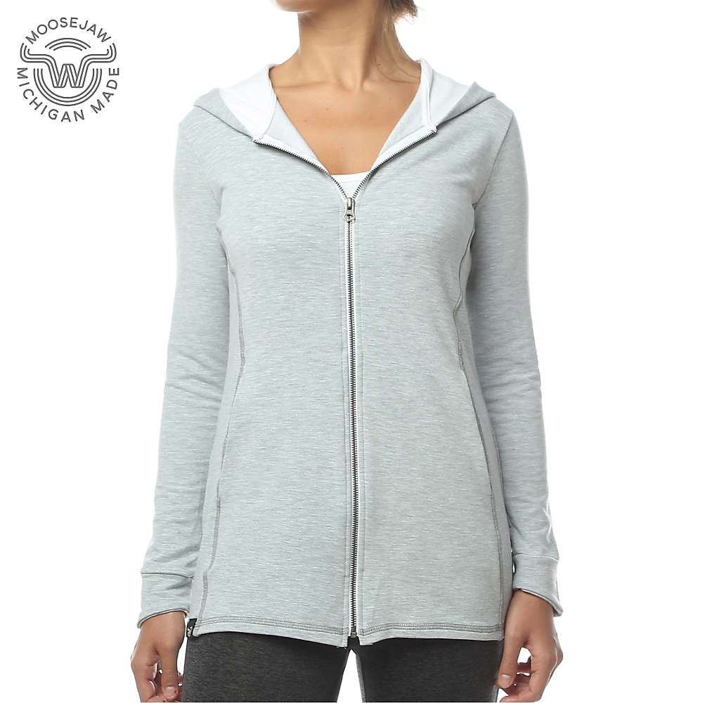 Moosejaw Women's Lakeside Zip Hoody - Large - Light Heather Grey