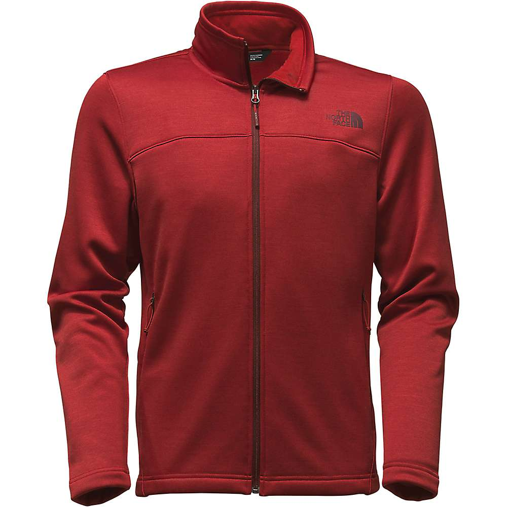 The North Face Men's Schenley Full Zip Jacket - Large - Cardinal Red Heather